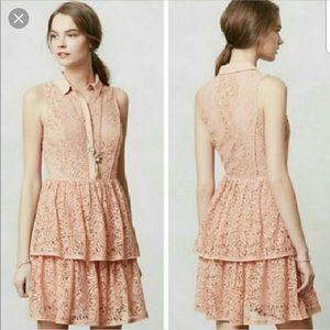 "Anthropologie ""The Addison Story"" pink dress sizeM"
